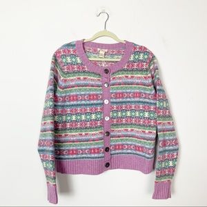 Sundance Fair Isle Nordic Print Cardigan Sweater